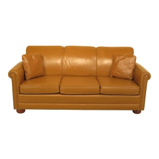 Vintage Baker Leather 3-Seat Sofa