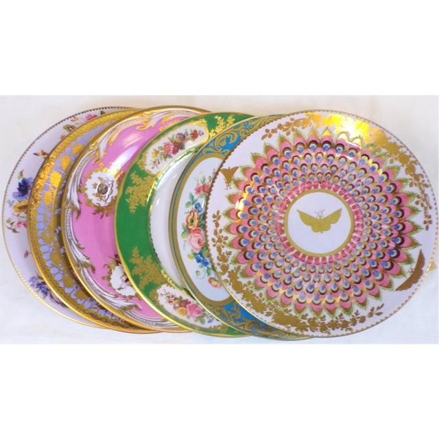 Shabby Chic Enamaled Tin English Plates - Set of 6 For Sale - Image 3 of 6