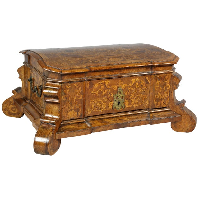 Dutch Rococo Walnut and Marquetry Document Box For Sale - Image 13 of 13