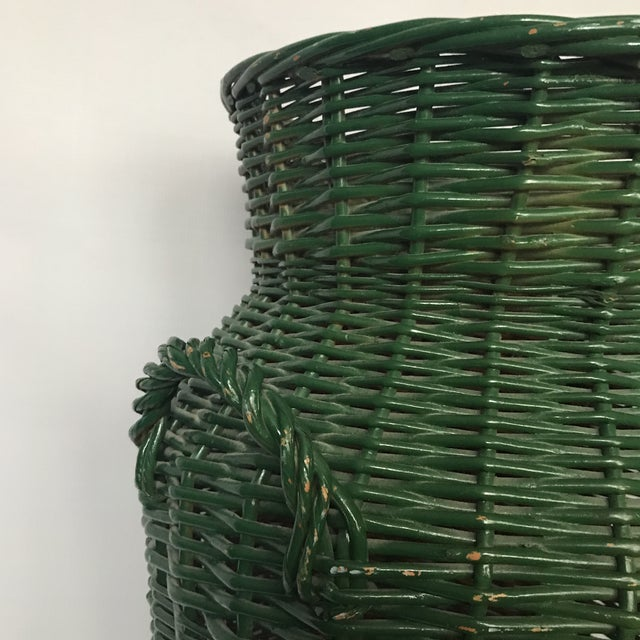 Large Urn Shaped Wicker Basket For Sale In Charlotte - Image 6 of 11