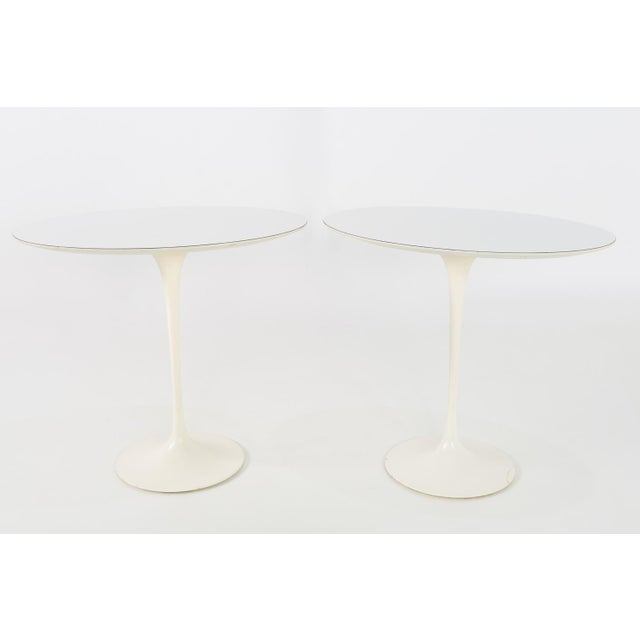 1960s Mid Century Modern Eero Saarinen for Knoll Oval Tulip Side Tables - a Pair For Sale - Image 9 of 9
