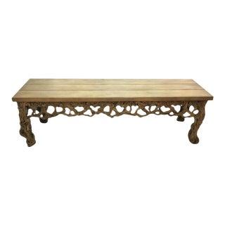 Vintage Chestnut Rootwood Bench For Sale