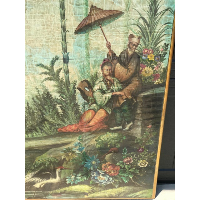 2000 - 2009 Chinoiserie Decoupaged Wall Hanging For Sale - Image 5 of 13