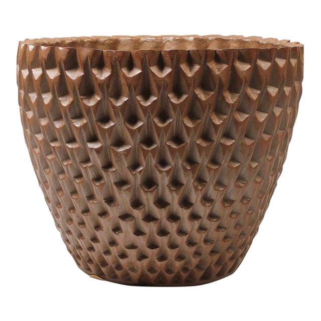 "David Cressey Artisan Series Unglazed ""Phoenix"" Planter Architectural Pottery For Sale"