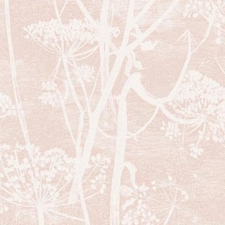 Cole & Son Cow Parsley Palm Wallpaper Roll - Plaster Pink For Sale