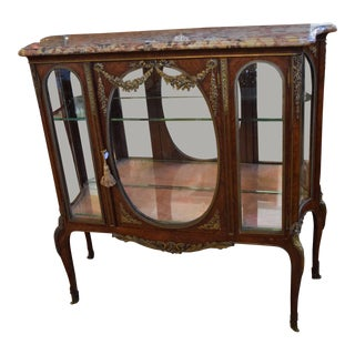 1900s Antique French Display Cabinet For Sale