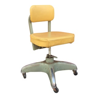 Industrial Age Wheeled Adjustable Desk Chair