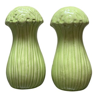 Mid-Century Bok Choy Cabbage Salt and Pepper Shakers For Sale