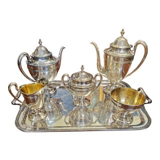 1930s Wilcox Silver Plate Co Silverplate Tea/Coffee Set- 6 Pieces For Sale