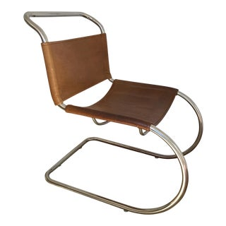 Chrome and Leather Accent Chair