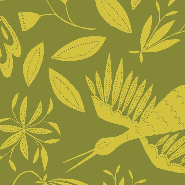 Transitional Julia Kipling Otomi Grand Wallpaper, 3 Yards, Dahlia Seed For Sale - Image 3 of 3