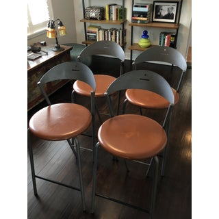 """1990s Vintage Fly Line Italian """"Memphis"""" Stools- Set of 4 Preview"""