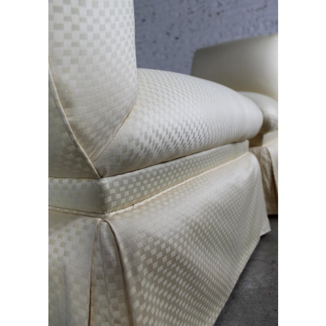 Donghia White Slipper Chairs - A Pair - Image 8 of 10