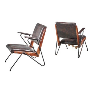 Lina Bo Bardi Pair of Armchairs, Brazil, 1950 For Sale
