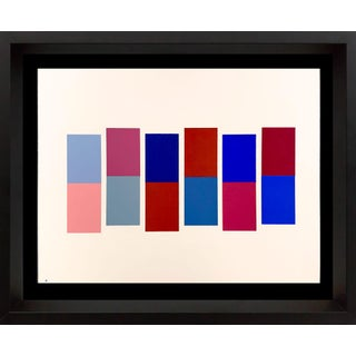 Josef Albers Original Silkscreen [XXI-1b] Limited Ed. With Frame Included For Sale