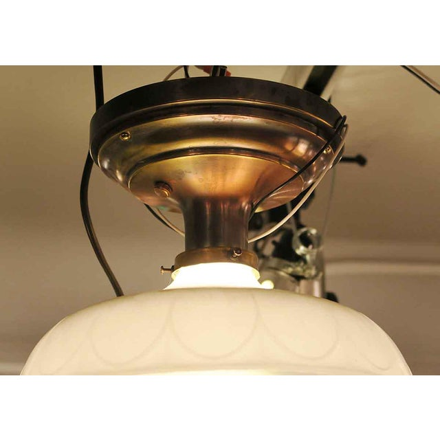 Victorian Flush Mount Light with Antique Brass Canopy - Image 4 of 5