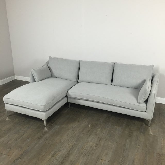 Modern Canvas Sectional Sofa - Image 6 of 8