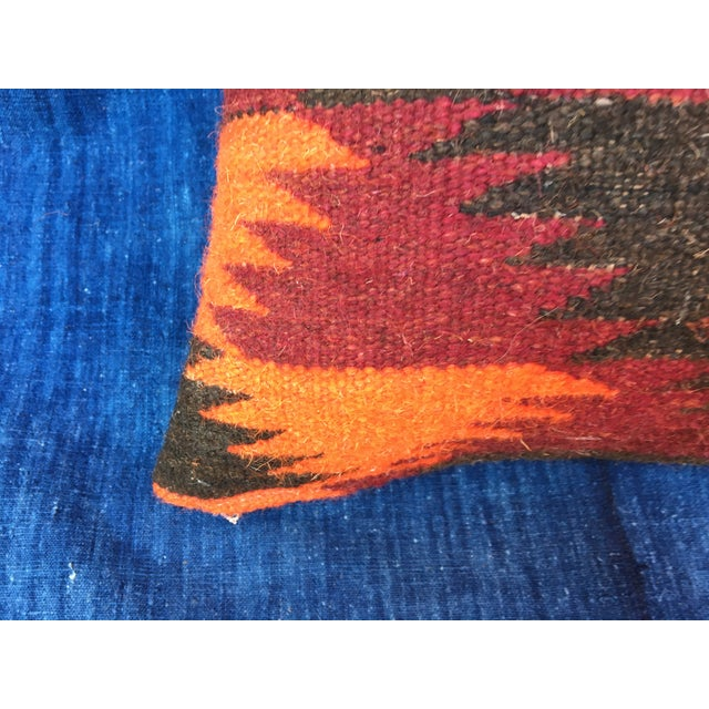 Boho Chic Pillow With Turkish Kilim Fragment - Image 5 of 5