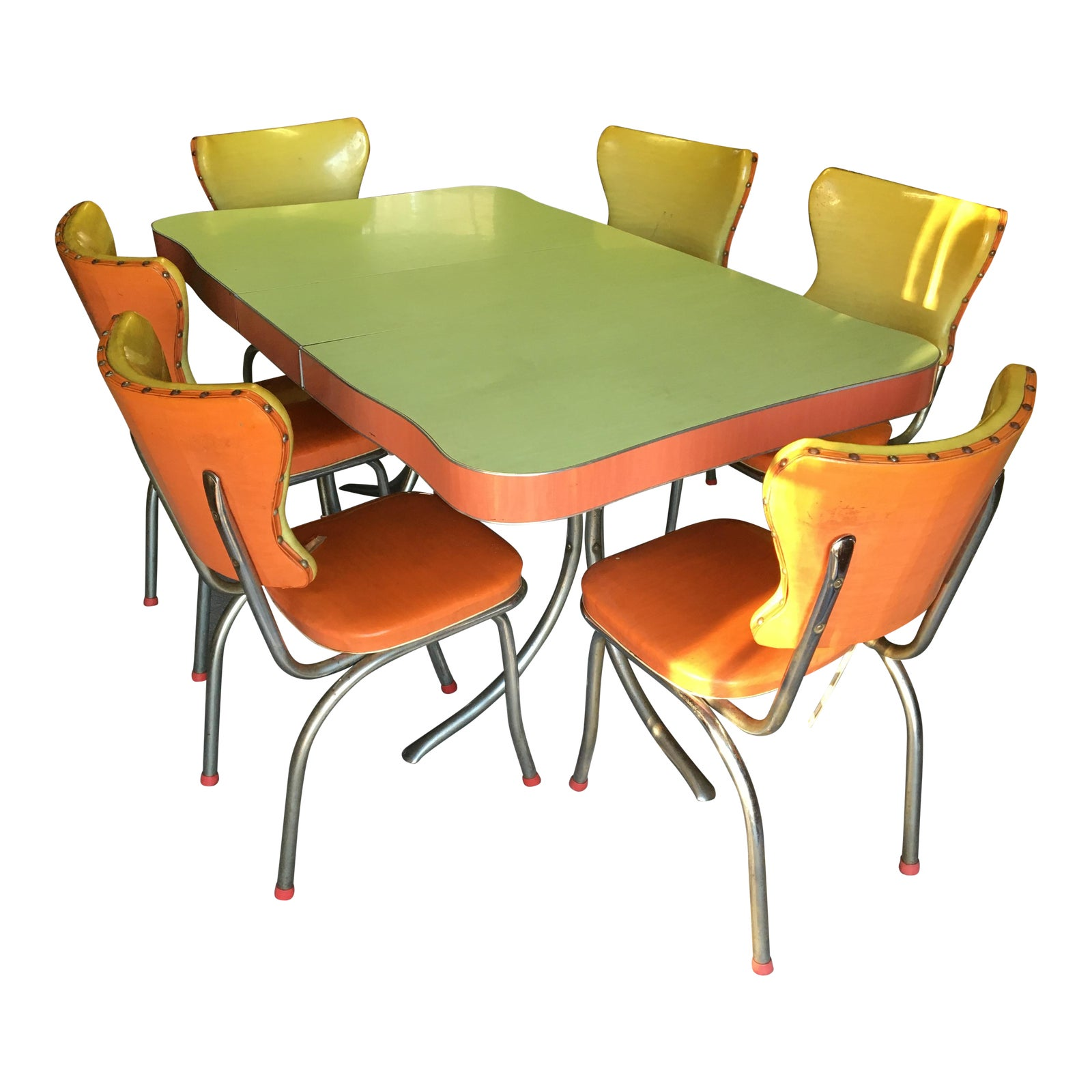 mid century retro formica dining table and chairs 7