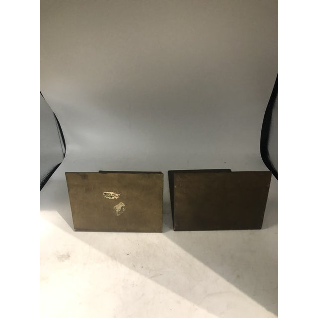 German Modernist Copper Bookends - a Pair For Sale - Image 9 of 10