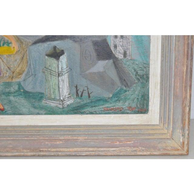 "Raymond Tom ""Domestic Surrealism"" Original Oil Painting c.1947 - Image 3 of 9"