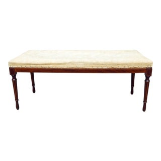 Early 19th Century Vintage Inlaid Bench For Sale