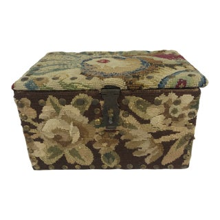 French Tapestry Box For Sale