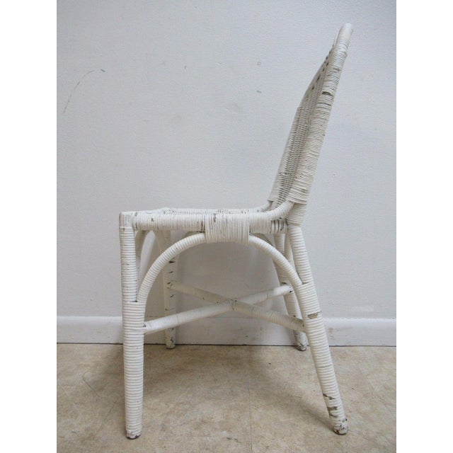 Antique Wicker Outdoor Patio Chair For Sale - Image 4 of 11