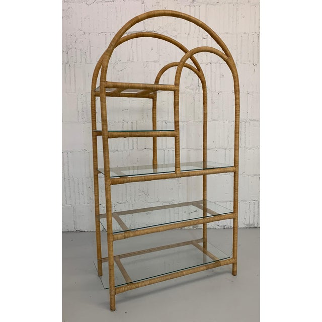 Rattan Wrapped Etagere For Sale - Image 9 of 9