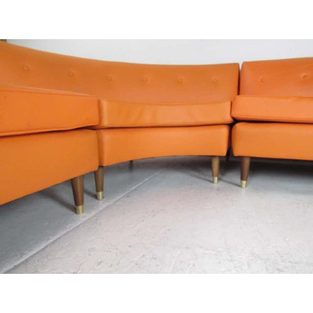 1970s Mid-Century Modern Three-Piece Sectional Sofa For Sale - Image 5 of 13