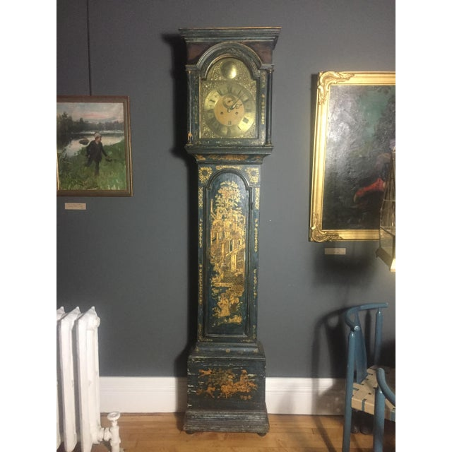 Late 18th Century English Chinoiserie Tall Case Clock For Sale - Image 11 of 11