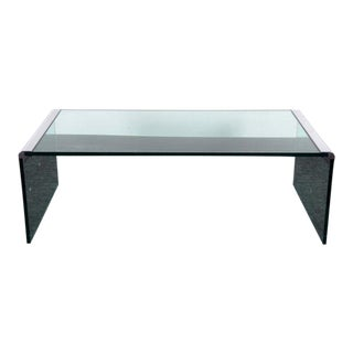 Brueton Steel Smoked Glass Coffee Table