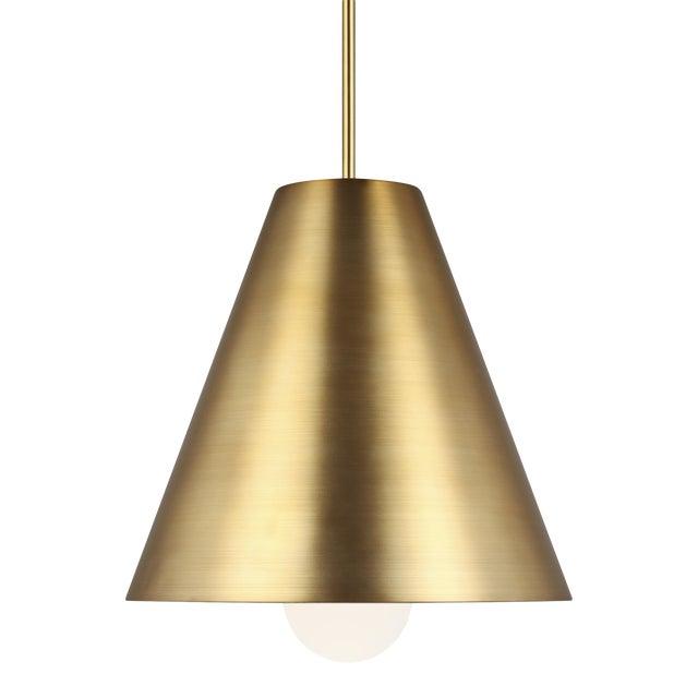 Joni Pendant LED Aged Brass For Sale