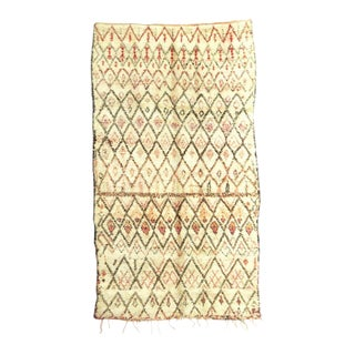 1970s Vintage Moroccan Marmoucha Rug - 5′5″ × 9′10″ For Sale