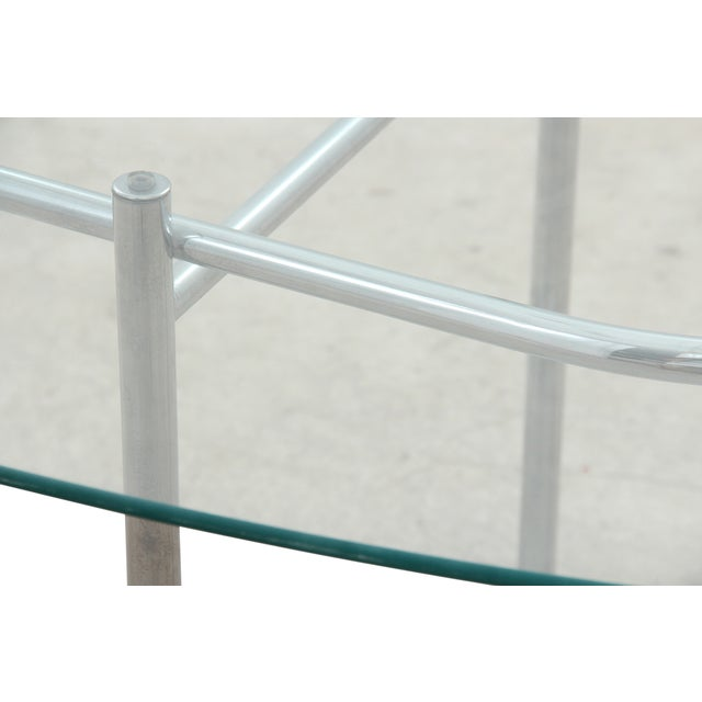 Chrome & Glass Dining Table - Image 5 of 6