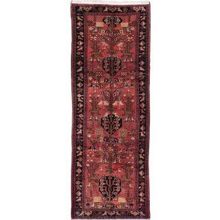 """Hamadan Vintage Persian Rug, 3'3"""" x 9'9"""" feet"""