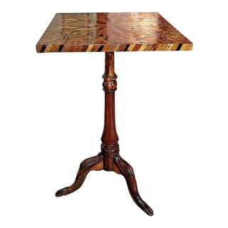 18c American Federal Specimen Wood Tripod Occasional Table For Sale
