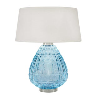 Laguna Table Lamp in Aqua Color For Sale