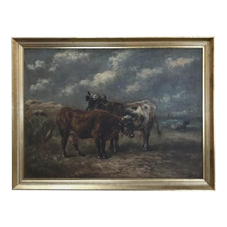 Antique Framed Oil Painting on Board by Paul Schouten (1860-1922) For Sale