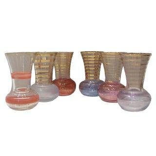 Bohemian Art Glass Vases, S/6 For Sale