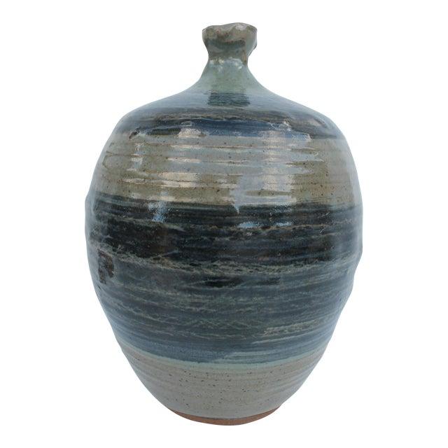 Vintage Green & Blue Glaze Bud Vase - Image 1 of 8