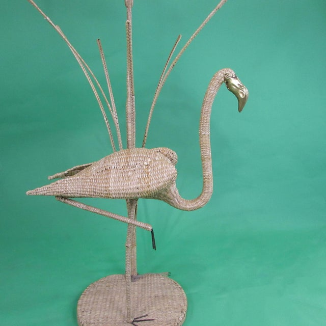 Mario Lopez Torres Flamingo With Reed Floor Lamp by Mario Lopez Torres For Sale - Image 4 of 6