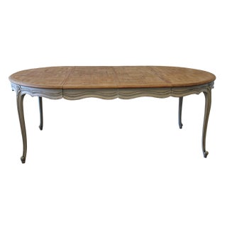 20th Century French Provincial Parquetry Dining Table For Sale