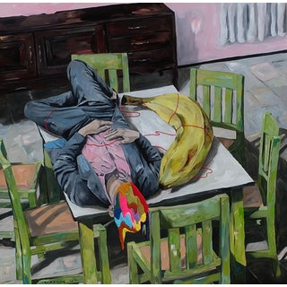 """Sleeping With Big Banana"" Original Artwork by Iqi Qoror For Sale"
