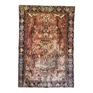 Middle Eastern 1930s Hand Knotted Wool Rug For Sale
