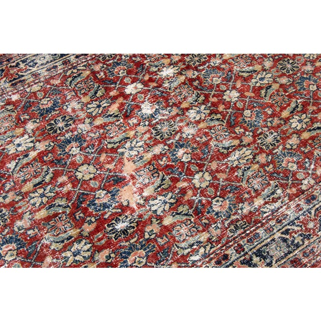 """Vintage Persian Distressed Rug, 4'3"""" X 19'7"""" For Sale In New York - Image 6 of 12"""