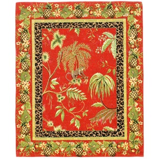 "Pasargad DC Vintage Tropical Tapestry - 2′10″ × 3′5"" For Sale"