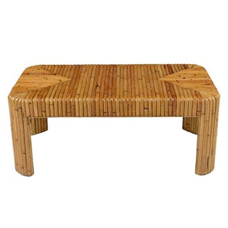 Vintage Rattan Bamboo Coffee Table Preview