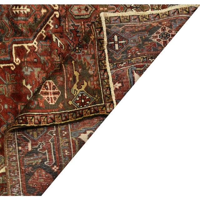 "Vintage Persian Heriz Rug - 6'9"" x 9'4"" For Sale - Image 4 of 4"