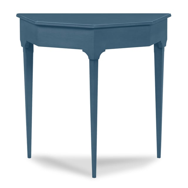 Traditional Annette Entry Console, Van Duesen Blue For Sale - Image 3 of 3